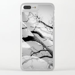 Tree Division in Mono Clear iPhone Case