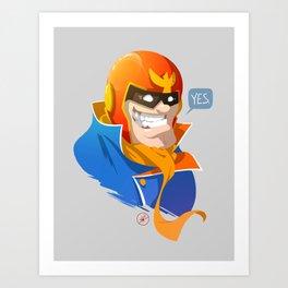 Captain Falcon - YES Art Print