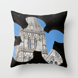 Salisbury Cathedral Throw Pillow