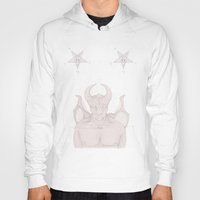 satan Hoodies featuring Red Satan by instantgaram