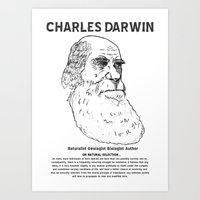 darwin Art Prints featuring Charles Darwin by Ron Trickett