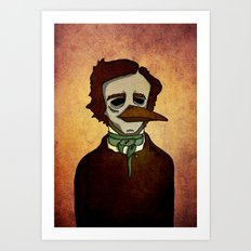 Prophets of Fiction - Edgar Allan Poe /The Raven Art Print