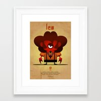 leo Framed Art Prints featuring LEO by Angelo Cerantola