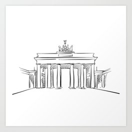 Brandeburg Gate in Berlin Art Print