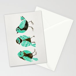 Turquoise Finches Stationery Cards