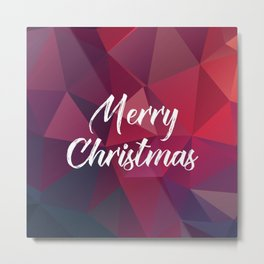 Merry Christmas Fractals Metal Print