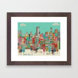 Dhaka Bangadesh skyline Framed Art Print