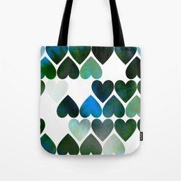 Mod Blue Hearts Tote Bag