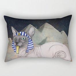 Sphynx Cat (space bg) Rectangular Pillow