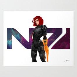I am Commander Shepard FAN ART Art Print