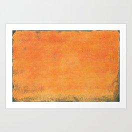 Minimal Orange Abstract Colorfield Painting  01 Art Print
