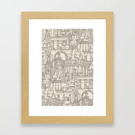 Ancient Greece natural Framed Art Print