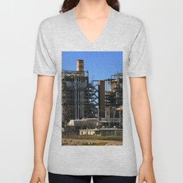 Natural Gas Power Plant Unisex V-Neck