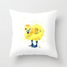 Baby Duck - Canada Goose Gosling Throw Pillow