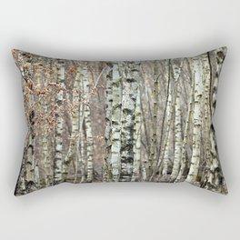 Birkenwald im Winter Rectangular Pillow