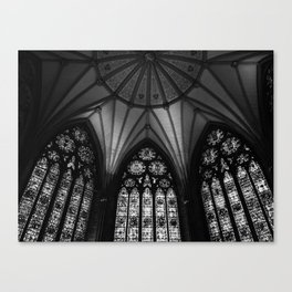 Black & White Cathedral Canvas Print
