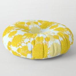 Chysanthemum in Saffron Floor Pillow