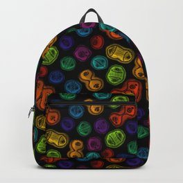 Mitosis - Color on Black Backpack