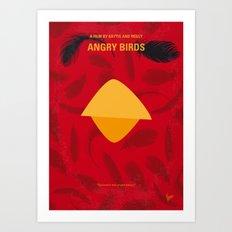 No658 My Angry Birds Movie minimal movie poster Art Print