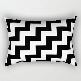 Black and White Steps RTL Rectangular Pillow