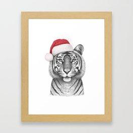 Christmas Tigress Framed Art Print