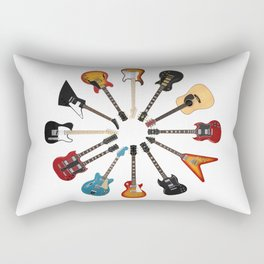 Guitar Circle Rectangular Pillow