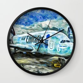 Emirates A380 Airbus Art Wall Clock