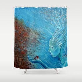 The Herald of Winter Shower Curtain
