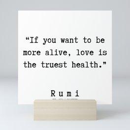134    | Rumi Quotes | 190221 Mini Art Print