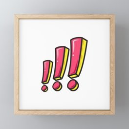 Cute Pink Exclamation Framed Mini Art Print