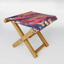 Colorful Abstract Folding Stool
