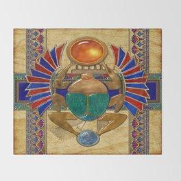 Sarcophagus 3d Egyptian Folk Art Throw Blanket