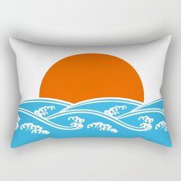 Japanese Tsunami  Rectangular Pillow