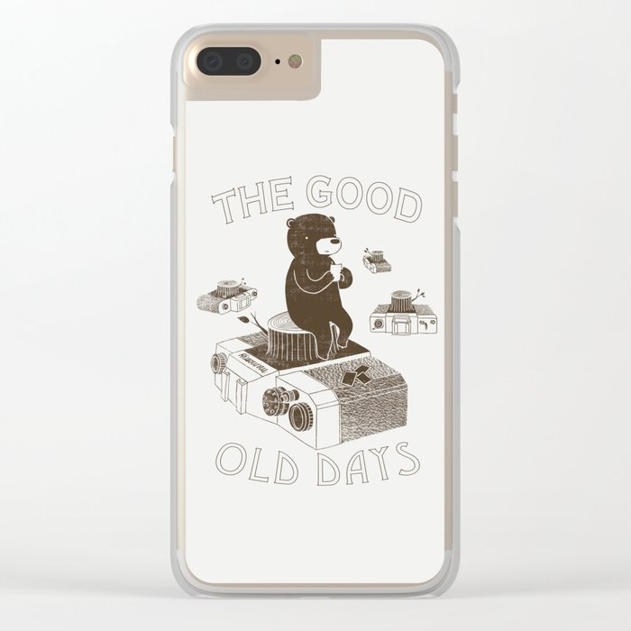 The Good Old Days Clear iPhone Case