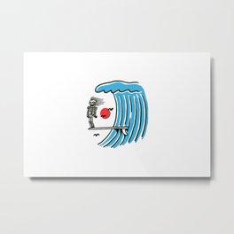 Funny Surf Nose Metal Print