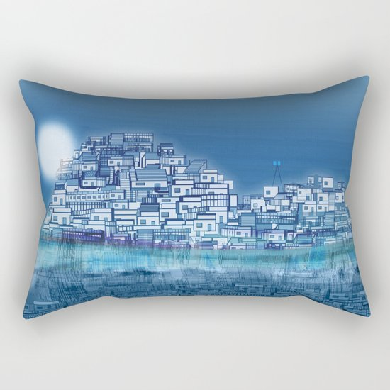 The Emerging Island II / San Borondon 2016 Rectangular Pillow