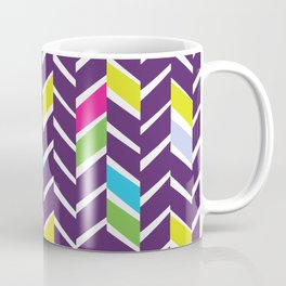 purple chevrons Coffee Mug