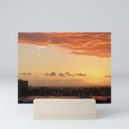 Modern Sunset On Cliff Drive Newport Beach CA Mini Art Print