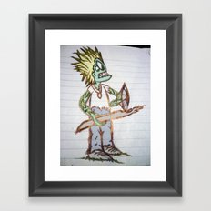 frog man Framed Art Print