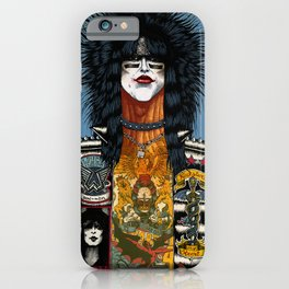 Portrait of Nikki Sixx iPhone Case