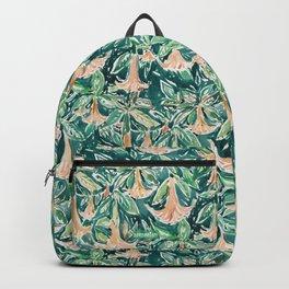 DATURA DREAMS Watercolor Floral Backpack