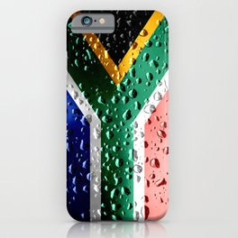 Flag of South Africa - Raindrops iPhone Case