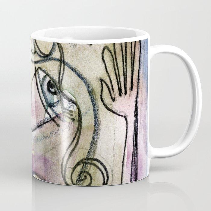 Abstract Nude Goddess No. 40L by Kathy Morton Stanion Coffee Mug