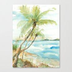 Tropical beache Canvas Print