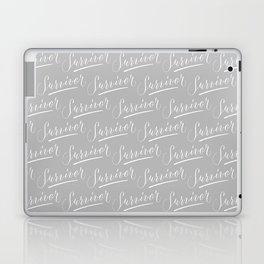 Survivor Modern Calligraphy Hand Lettering Design Laptop & iPad Skin