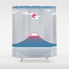 snow mountain 02 Shower Curtain