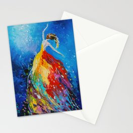 Flying dance Stationery Cards