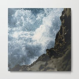 Turbulent Sea Metal Print