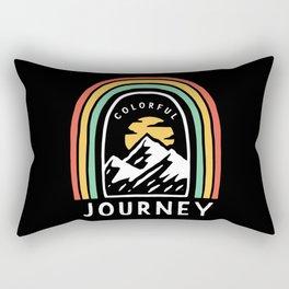 Colorful Journey Rainbow Hiking Rectangular Pillow