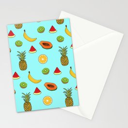 Tropical Fruity Summer Pattern Stationery Cards